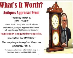 Antique Appraiser Coming to the Library