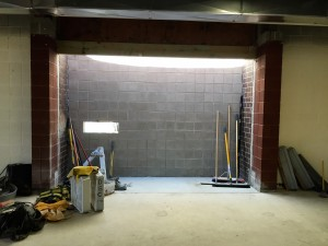 Inside the new drive-up bookdrop